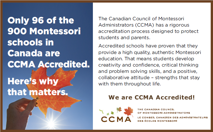 Accredited Montessori School - CCMA Accredited Montessori School